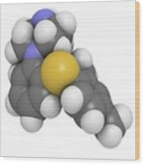 Vortioxetine Antidepressant Drug Wood Print