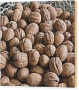 Walnuts In A Basket Wood Print