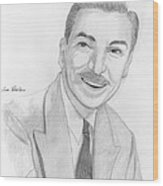 Walt Disney Wood Print by M Valeriano