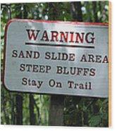 Warning Sign Wood Print