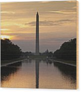 Washington Monument Sunrise Wood Print