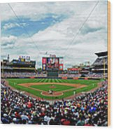 Washington Nationals V Atlanta Braves Wood Print