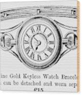Watch Bracelet, 1891 Wood Print