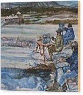 2-watercolor Landscapes Wood Print