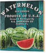 Watermelon Farm Wood Print