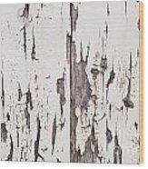 Weathered Paint On Wood Wood Print