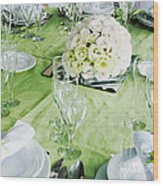 Wedding Table Wood Print