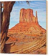 West Mitten Monument Valley Wood Print
