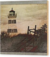 West Point Lighthouse Wood Print
