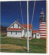 West Quoddy Lighthouse Wood Print