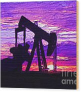 West Texas Intermediate Wood Print by GCannon