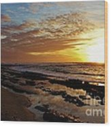Westside Sunset Wood Print