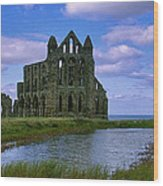 Whitby Abbey Wood Print by Trevor Kersley