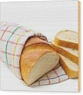 White Bread With Slices Wood Print
