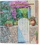 White Gate Wood Print
