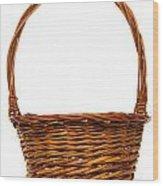Wicker Basket Number Twelve Wood Print