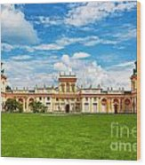 Wilanow Palace In Warsaw Poland Wood Print