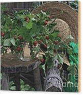 Wild Strawberries Wood Print