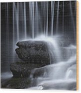 Wilderness Waterfall Wood Print