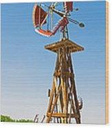 Wind Mills In West Texas Wood Print