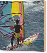Windsurfing International Competition Wood Print