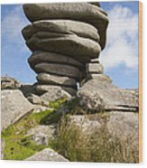 Windswept Stones Wood Print