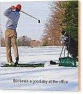 Winter Golf Wood Print