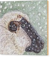 Wishing Ewe A White Christmas Wood Print