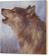 Wolf Whistle Wood Print