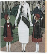 Women's Fashion, 1920 Wood Print