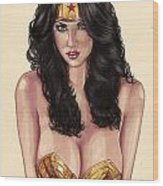 Wonder Woman Wood Print