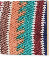 Wool Pattern Wood Print by Tom Gowanlock