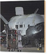 X-37b Orbital Test Vehicle, Post-landing Wood Print