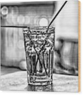 X Marks The Drink Wood Print