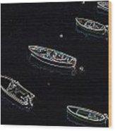 Yachts At Rest Sorrento Wood Print