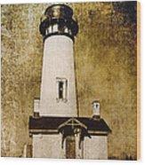 Yaquina Head Lighthouse - Oregon Wood Print