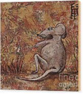 Year Of The Rat Wood Print