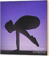 Yoga Crane Pose Wood Print
