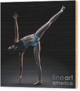 Yoga Half Moon Pose Wood Print