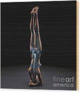 Yoga Headstand Pose Wood Print