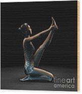Yoga Heron Pose Wood Print