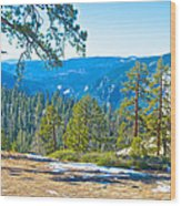 Yosemite Valley Mountainside From Sentinel Dome Trail In Yosemite Np-ca Wood Print