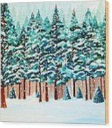 Yosemite Winter Wood Print