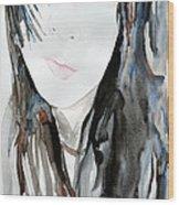 Young Girl Wood Print by Ismeta Gruenwald