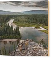Yukon Canada Taiga Wilderness And Mcquesten River Wood Print