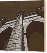 Brooklyn Bridge - New York City Wood Print