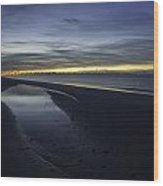 20 Degree Beach Sunrise Wood Print