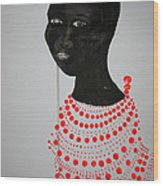 Dinka Bride - South Sudan Wood Print