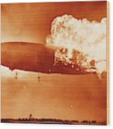Hindenburg Disaster Wood Print