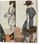 La Vie Parisienne 1919 1910s France Wood Print